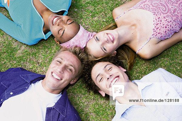 Gruppe von Freunden