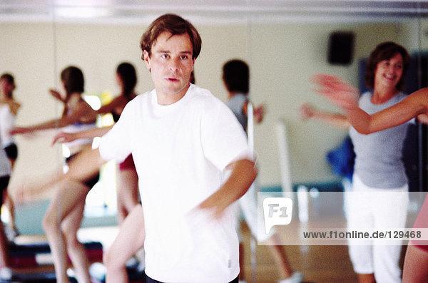 Menschen  die trainieren