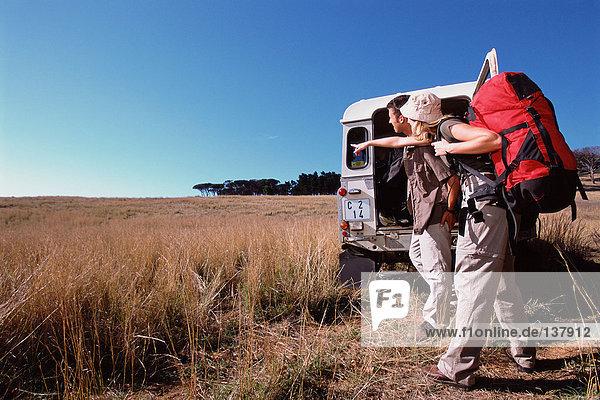 Paar auf einer Safari