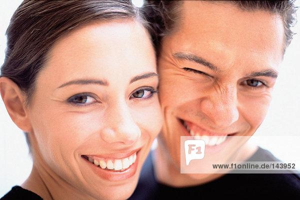 Porträt von glücklichen Paar