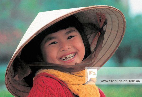 Nahaufnahme-Mädchen lächelnd  Vietnam