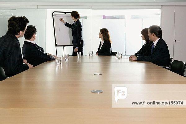 Geschäftsfrau bei der Präsentation