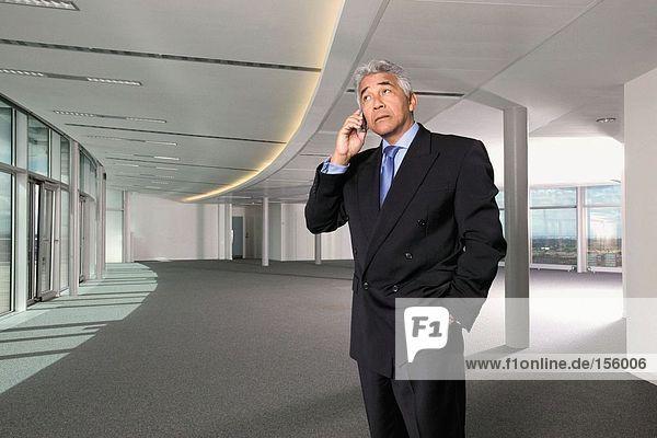 Geschäftsmann mit Mobiltelefon