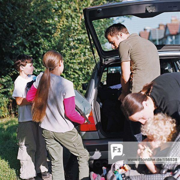 Familien-Ladewagen für den Urlaub