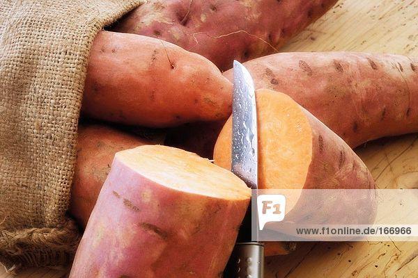 Süßkartoffeln  Nahaufnahme