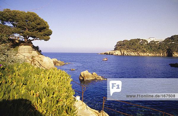 Spain  Catalonia  Costa Brava  bay of aiguablava