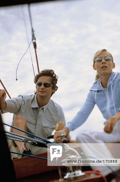 Paar Segelboot