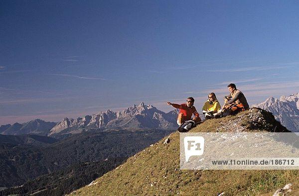 Österreich  Salzburger Land  auf dem Gipfel der Berge