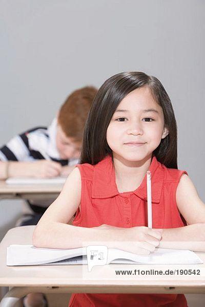 Mädchen in der Klasse