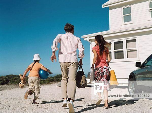 Familienlauf für den Strand
