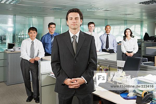 Manager und sein Team