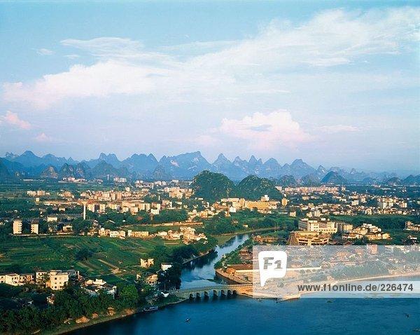 Luftbild von City  China