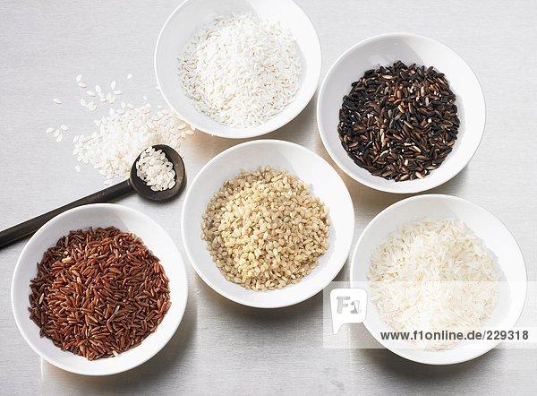 Mehrere Reissorten