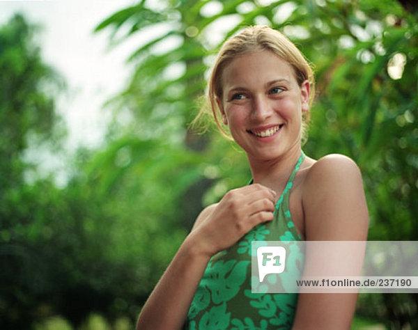 blond  lächelnd Teenager Porträt