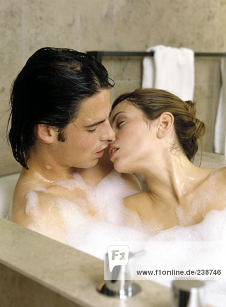 Bathroom Kissing couple in