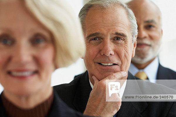 Porträt von drei Vorstandsvorsitzenden