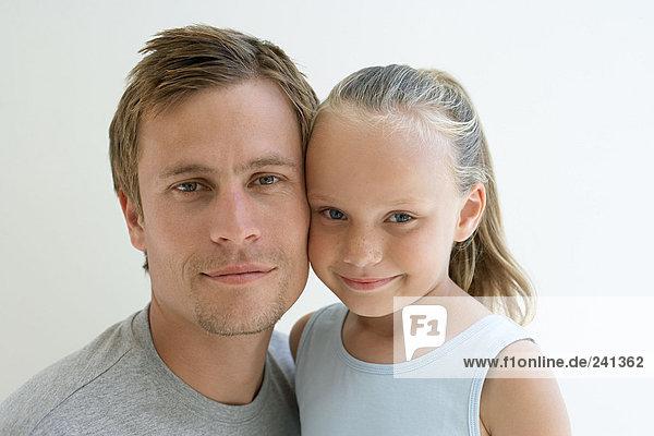 Porträt eines Vaters und einer Tochter