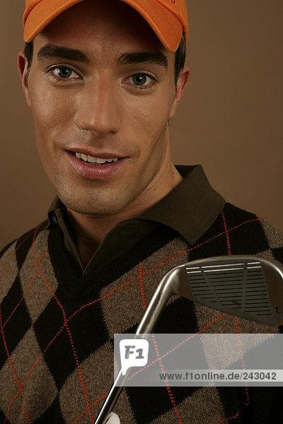 Porträt von einem Golfspieler  fully_released