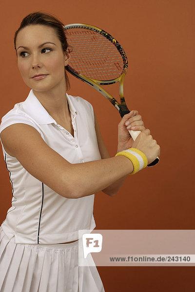 Tennisspielerin im Spiel  fully_released