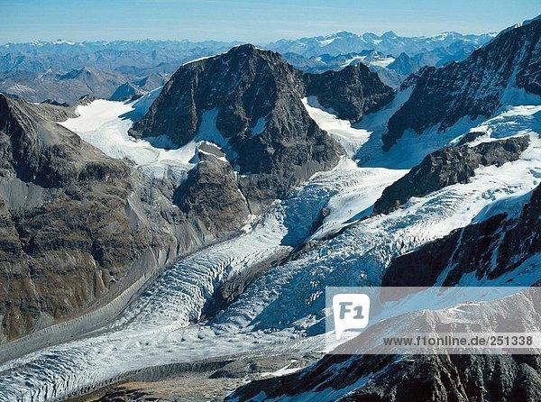 10160965  Bergpanorama  Eis  Gletscher  Luftaufnahme  Tschiervagletscher  Gletscher  Luftaufnahme  Berge  Alpen  Alps  sc