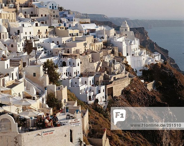 10231580  rock town  Thira  Fira  Greece  Cyclades  Santorini  terraces  overview  holidays  travel