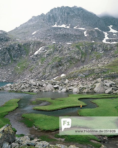 Landschaftlich schön landschaftlich reizvoll Europa Berg Alpen Kanton Graubünden Schweiz