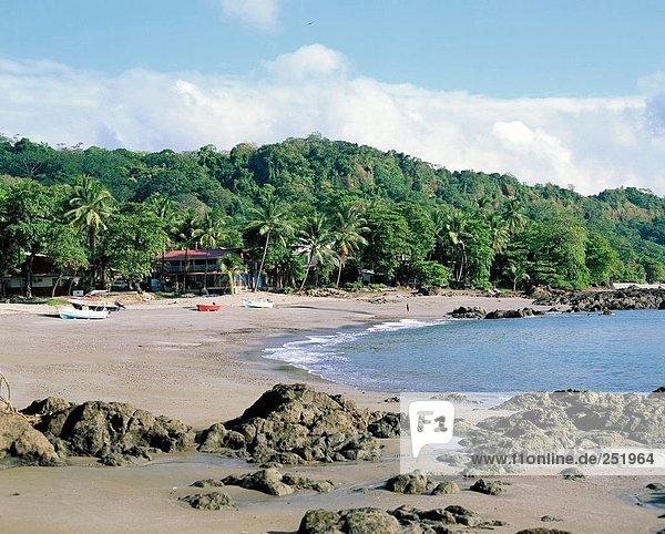 Wohnhaus Gebäude Küste Mittelamerika Bucht Costa Rica Nicoya Halbinsel