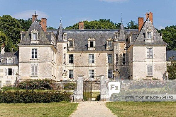 Fassade des Schlosses  Chateau ¢ teau De Gizeux  Indre-Et-Loire  Frankreich
