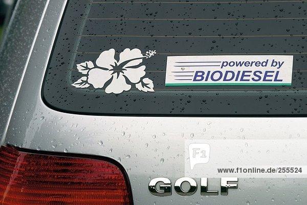 Aufkleber Auto Biodiesel Biomasse Diesel Erneuerbar 10814492