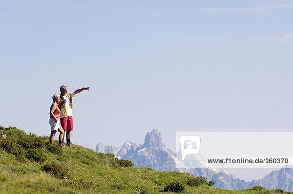Austria  Salzburger Land mature couple hiking