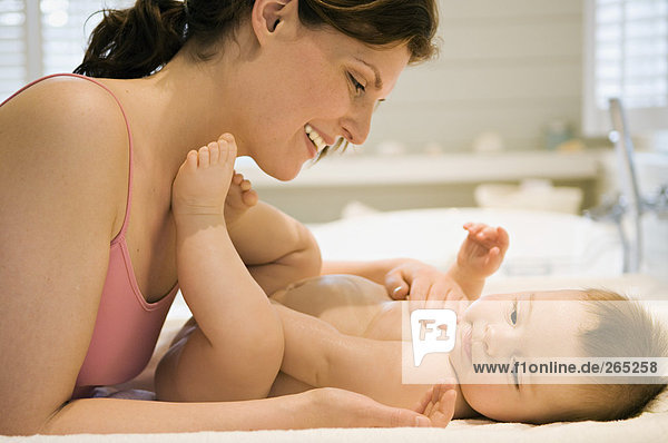 Frau und Baby Frau und Baby