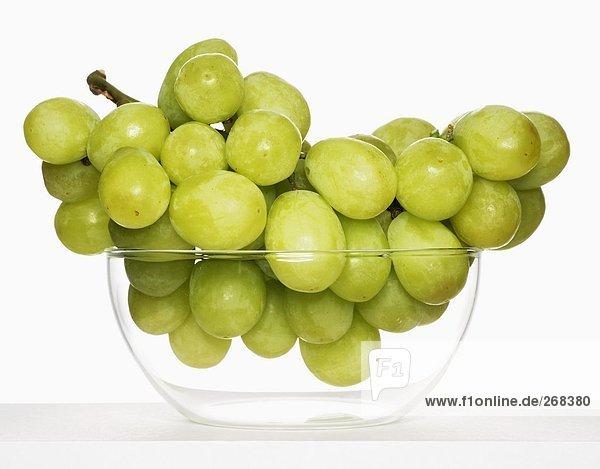 Weintrauben in Glasschale