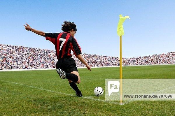 Wobei Eckball Fußballspieler