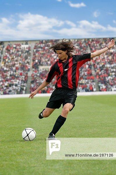 Fußball-Spieler markanten