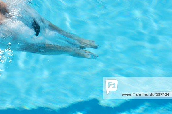 Tauchen Schwimmerin