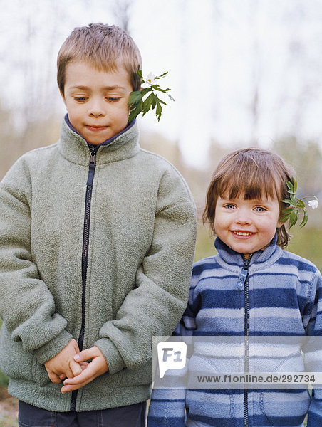 Portrait of a boy and a girl.