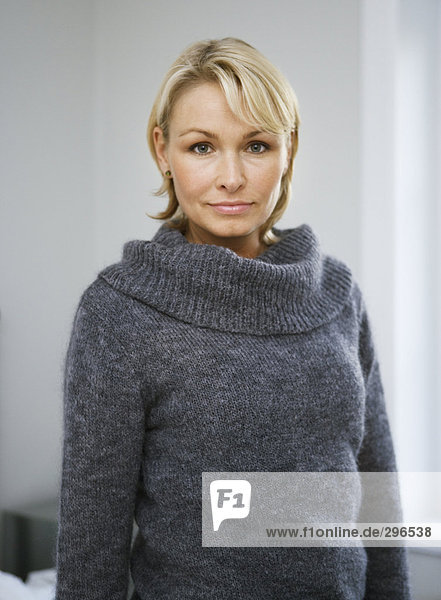 Blond Frau Porträt.