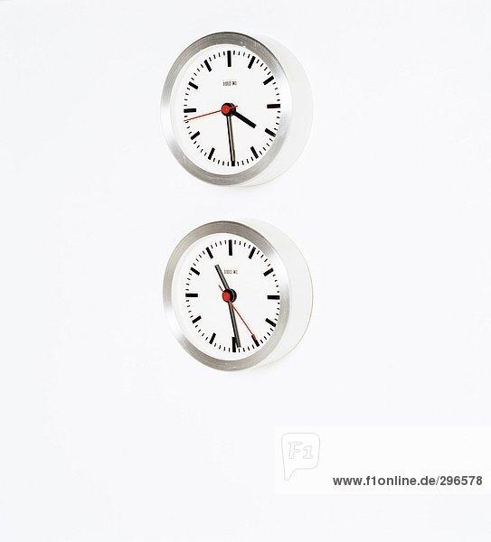 weiß Hintergrund Uhr 2