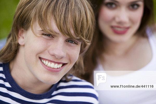 Zwei Jugendliche  Portrait