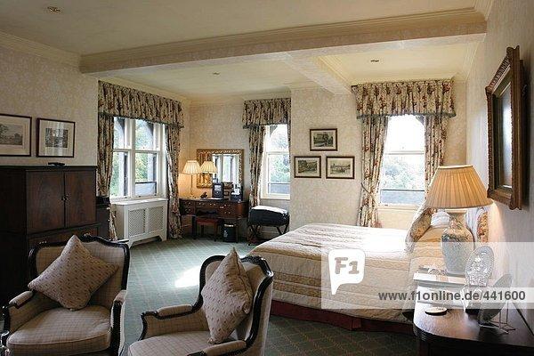 Innere der Schlafzimmer  Ashford Castle  Irland
