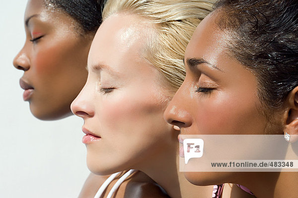 Profile of three young women