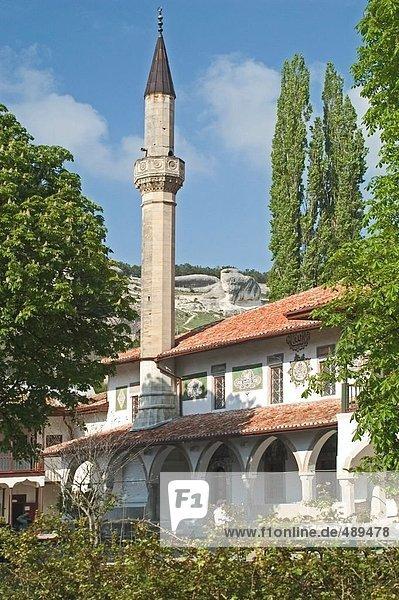 Minarett der Moschee  Bachtschisaraj  Krim  Ukraine