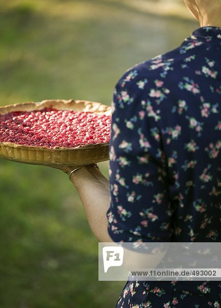 Eine Rote Johannisbeere Torte.