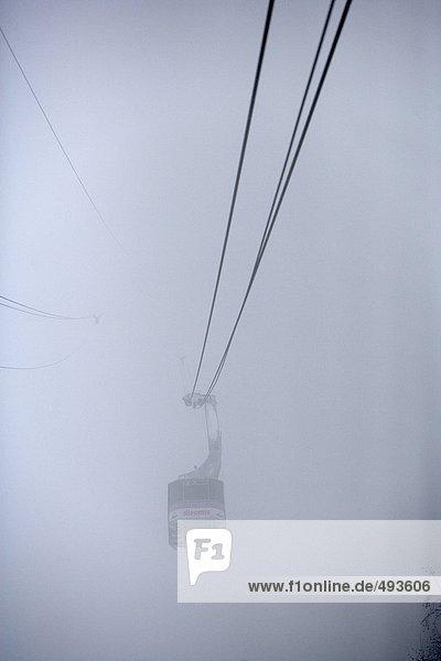 Eine Schiaufmunterung in Nebel.