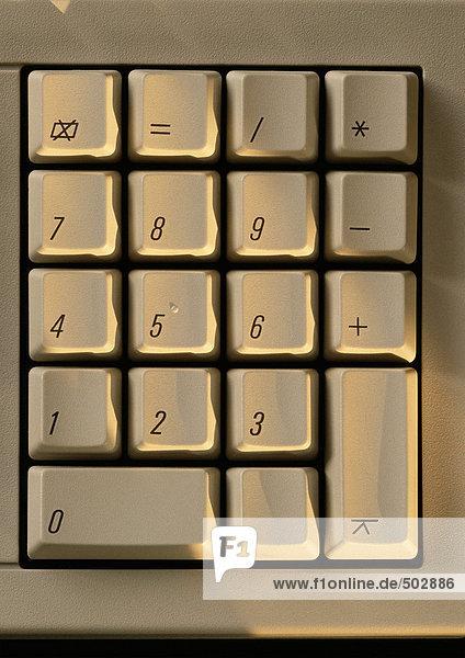 Tastatur der Computertastatur,  Nahaufnahme