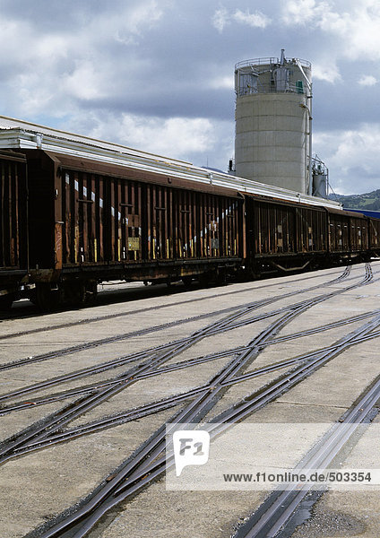Train in switchyard