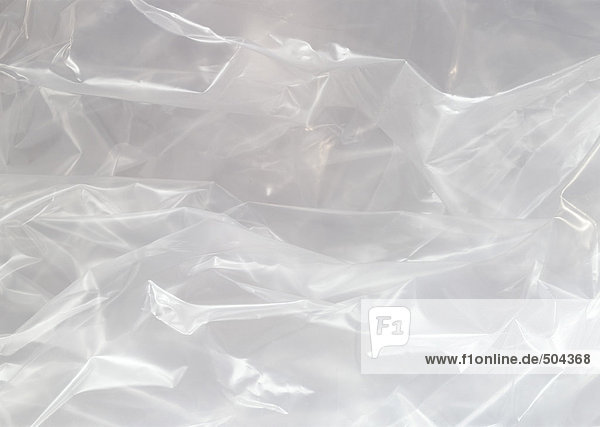 Falte Plastikfolie  extreme Nahaufnahme