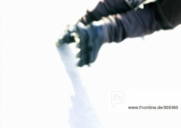 Person Inline-Skating  niedrige Sektion  unscharf