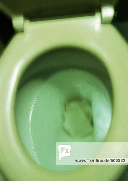 Toilettenschüssel  Nahaufnahme