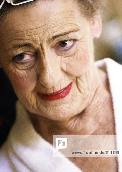 Seniorin  Porträt.